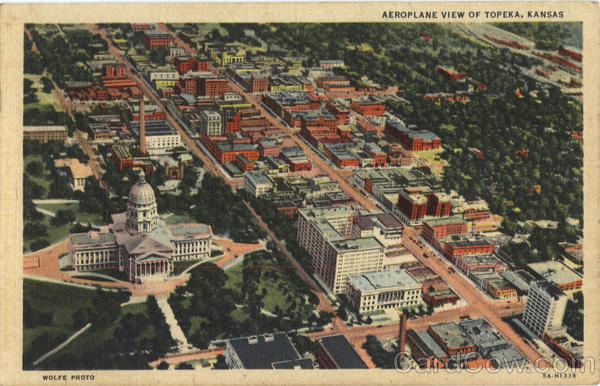 Aeroplane View of Topeka Kansas