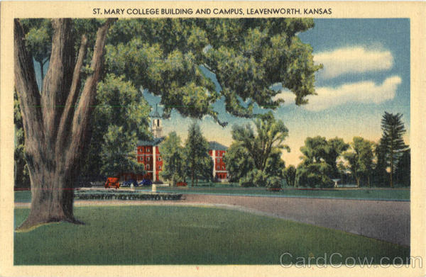 St. Mary College Building and Campus Leavenworth Kansas