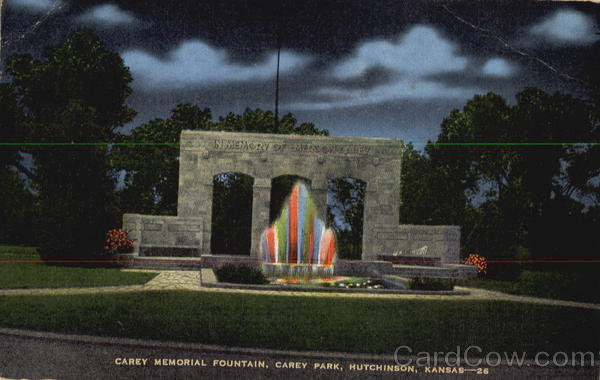 Carey Memorial Fountain Park Hutchinson Kansas