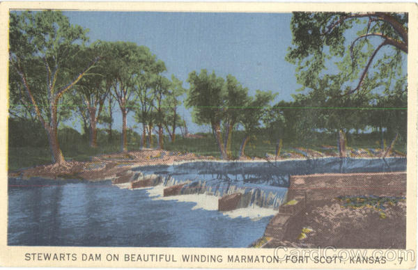 Stewarts Dam On Beautiful Winding Marmaton Fort Scott Kansas