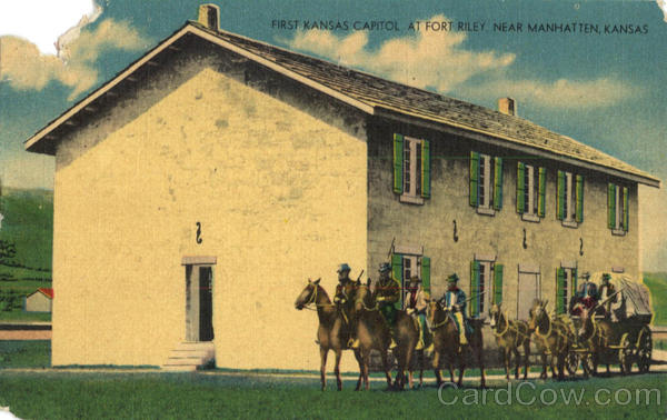 First Kansas Capitol Fort Riley Horses
