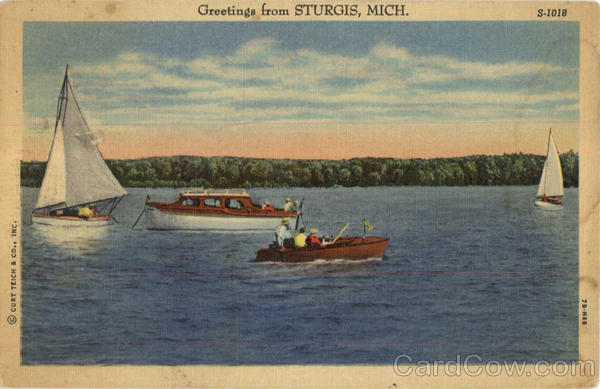 Greetings From Sturgis Michigan Sailboats
