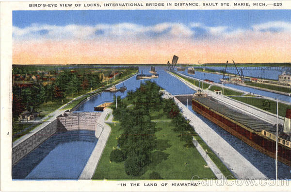 Bird's Eye View Locks, Sault Ste Sault Ste Marie Michigan