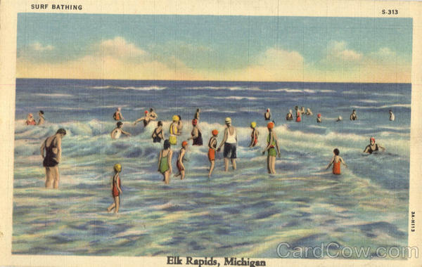 Surf Bathing Elk Rapids Michigan Swimming