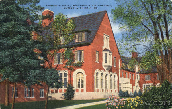 Campbell Hall, Michigan State College Lansing