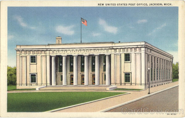 New United States post Office Jackson Michigan