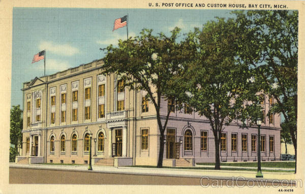 U. S. Post Office And Custom House Bay City Michigan