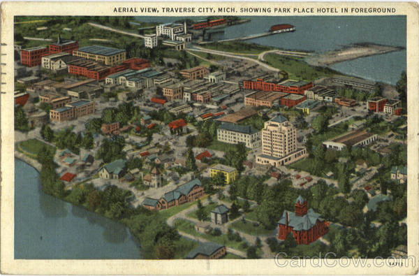 Aerial View Traverse City Michigan