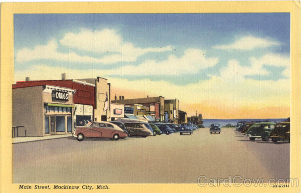 Main Street Mackinaw  City Michigan