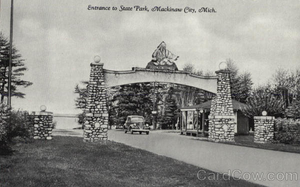 Entrance To State Park Mackinaw City Michigan