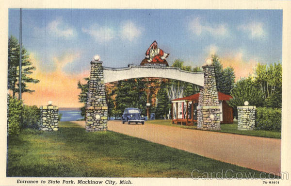 Entrance To StatePark Mackinaw City Michigan