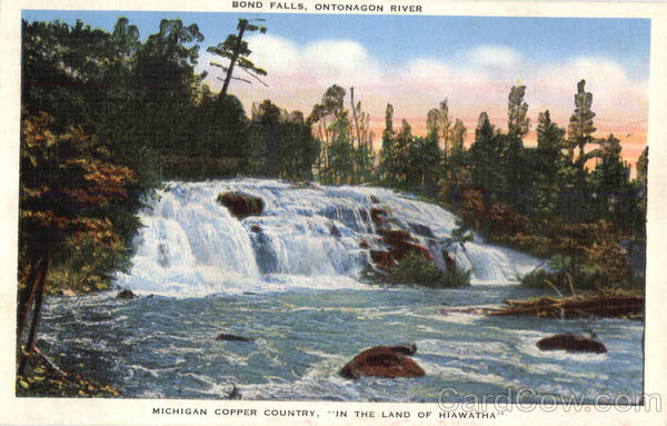 Bond Falls Ontonagon River Michigan