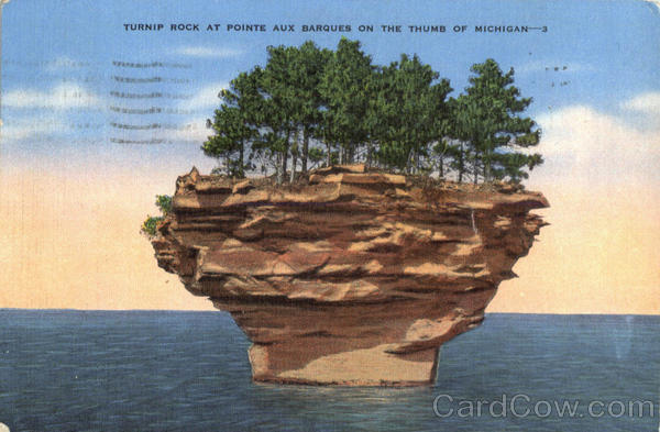 Turnip Rock At pointe Aux Barques On The Thumb Of Michigan