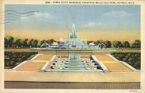 James Scott Memorial Fountain, Belle Isle Park Detroit Michigan