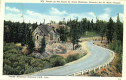 Scene on the South St. Vrain Highway Showing the St. Malo Chapel