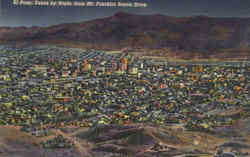 El Paso Texas by Night Postcard