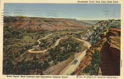 Goodnight Trail, Palo Duro State Park Postcard