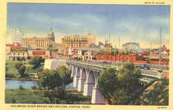 Colorado River Bridge And Skyline Postcard