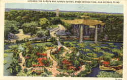 Japanese Tea Garden And Sunken Garden, Breckenridge Park Postcard