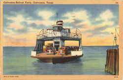 Galveston - Bolivar Ferry Postcard
