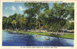 Bathing Beach And Bathhouse At Taughannok Falls, State Park