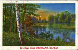 Greetings From Goodland Postcard