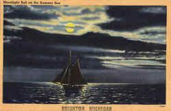Moonlight Sail On the Summer Sea