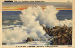 Old Lake Superior In An Angry Mood