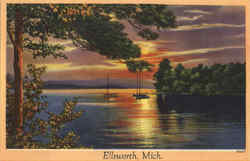 Greetings From Ellsworth Postcard
