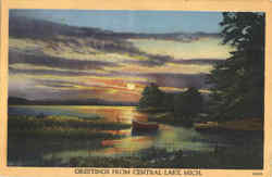 Greetings From Central Lake Postcard