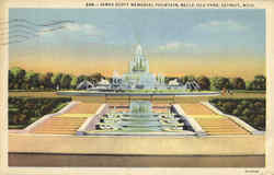 James Scott Memorial Fountain, Belle Isle Park