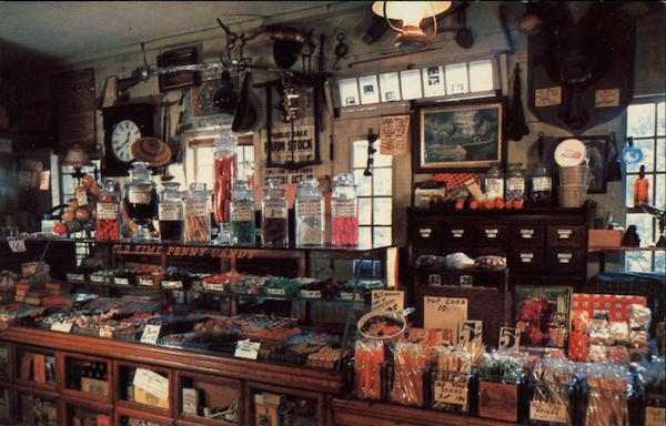 The Penny Candy Counter at the Wayside Country Store So. Sudbury Massachusetts