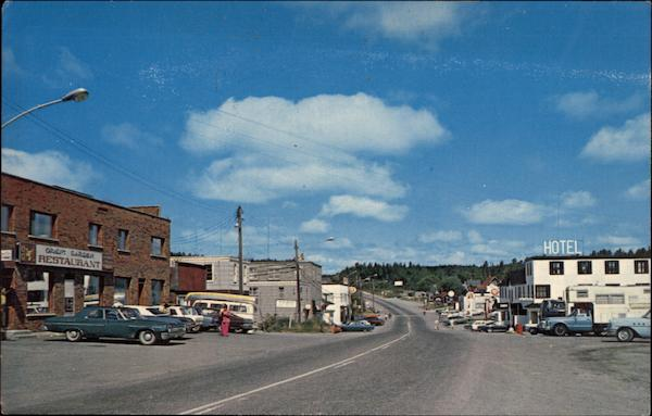 Business District Temagami Canada Ontario