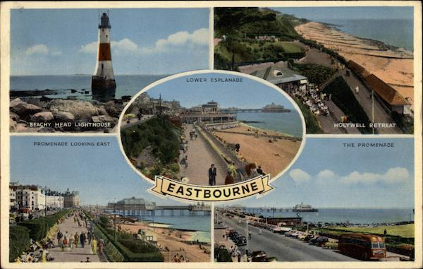 Several Scenic Views of Eastbourne, including Beachy Head Lighthouse United Kingdom