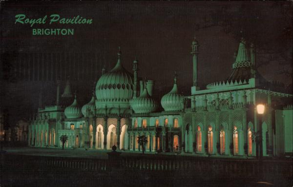 The Royal Pavilion at Night Brighton England Sussex