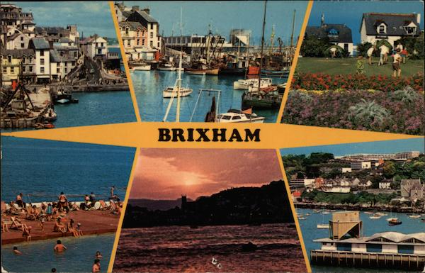Various Views of Town Brixham England