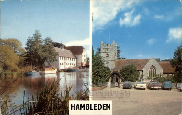 View of River and Church Hambleden England