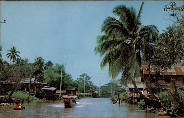 Upcountry Canal Thailand Southeast Asia