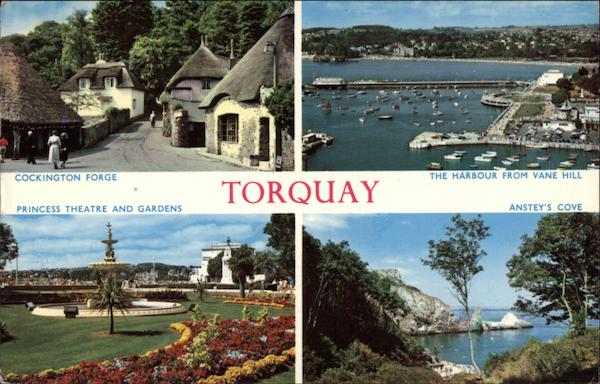 Various Views of Town Torquay England Devon