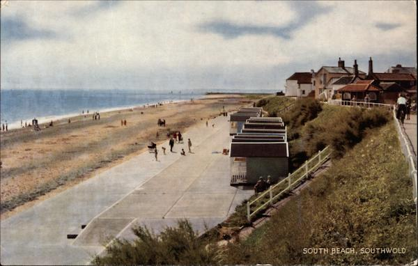 View of South Beach Southwold England