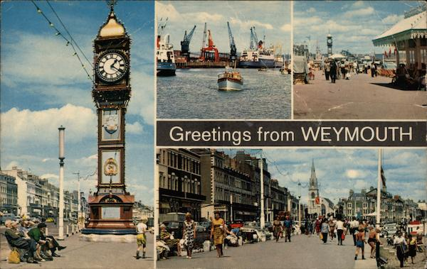 Various Views of Town Weymouth England Dorset