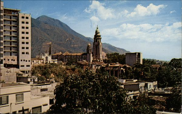 VIew of City with Mountains Caracas Venezuela South America