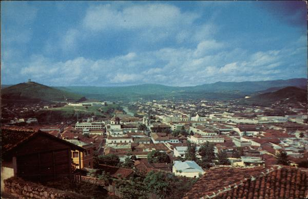 View of Tegucigalpa Honduras Central America