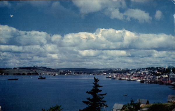 View of Harbour Lunenburg Canada Nova Scotia
