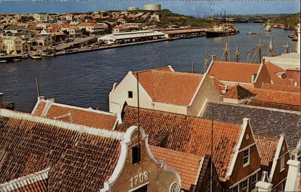 View of Willemstad Curacao Netherland Antilles Caribbean Islands