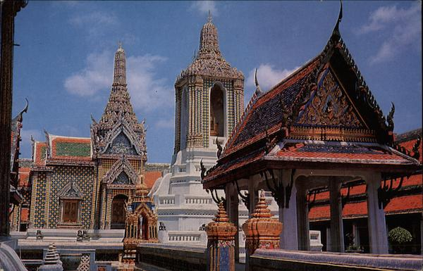 The Emerald Buddha Temple in Bangkok Thailand Southeast Asia
