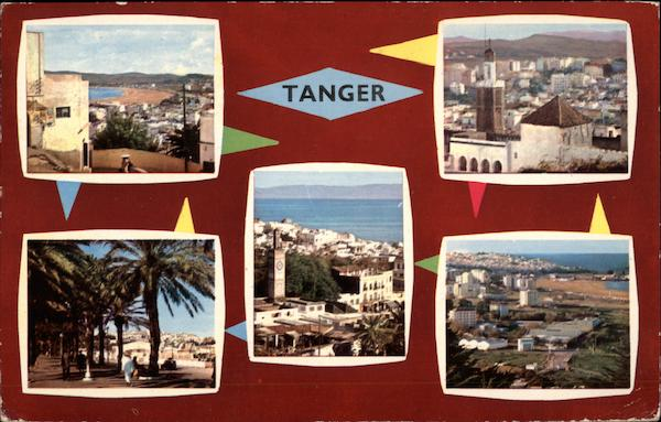 Various Views of City Tangiers Morocco Africa