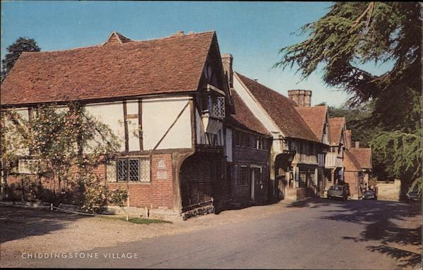 View of Village Street Chiddingstone England Kent