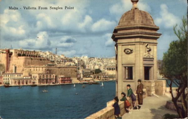 View from Senglea Point Valletta Malta