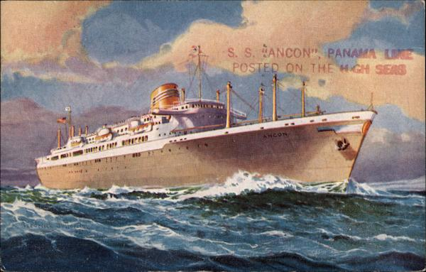 S.S. Ancon of the Panama Line Cruise Ships